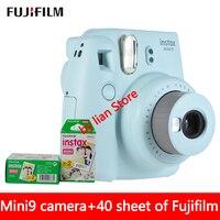 Новый 5 цветов Fujifilm Instax Mini 9 мгновенных фото камера + 40 простыни Fuji мини пленка для Instax Mini 8 крупным планом объектив