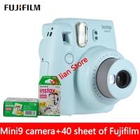 New 5 Colors Fujifilm Instax Mini 9 Instant Photo Camera + 40 sheet Fuji Instax Mini 8 White Film + Close up Lens