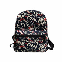 New Fashion Women Canvas Backpack School Rucksack Bag Printing Shoulder Bags Simple Style Designer Small Backpack