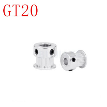 1PC GT2 Timing Pulley 20 teeth Bore 3.17mm 4mm 5mm 6mm 6.35mm 8mm for width 10mm 2GT Synchronous Belt Small backlash 20Teeth image