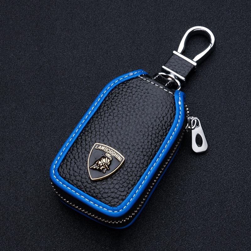 Genuine Leather Key Cover Smart Remote Key Shell Case For