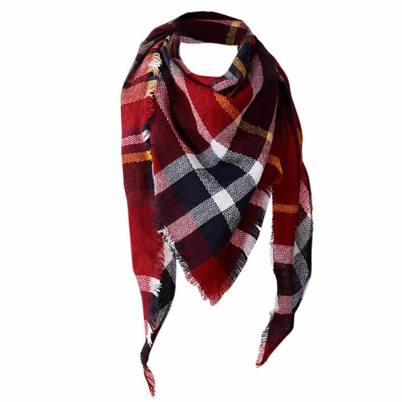 225283d9eea Detail Feedback Questions about Winter Scarf 2017 Tartan Cashmere Scarf  Women Plaid Blanket Scarf New Designer Acrylic Basic Shawls Women s Scarves  and ...