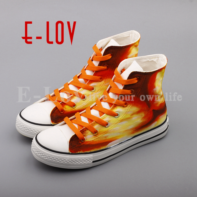 E-LOV Custom Design Flat Shoes Women Espadrilles 2017 New High Top Hand Painted Casual Flats Graffiti Shoe Zapatillas e lov hand painted graffiti horoscope canvas shoes custom luminous graffiti gemini casual flat shoes women zapatillas mujer