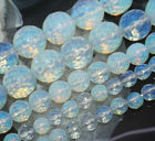 New 4MM 6MM 8MM 10mm 12MM Faceted Sri Lanka Moonstone Loose Beads Rould Natural Stone Fashion Jewelry 15inch Wholesale Price