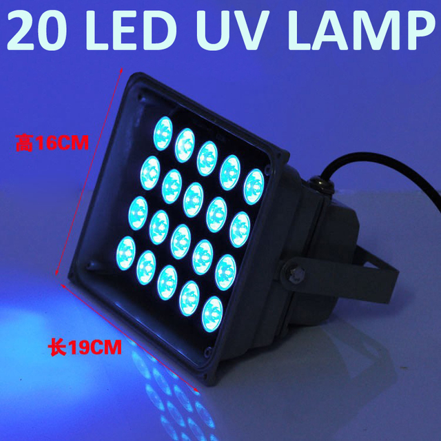 20LED UV Lamp UV Lamps UV Glue Paint Curing Lamp UV Light 395nm Ultraviolet  Light Shadowless