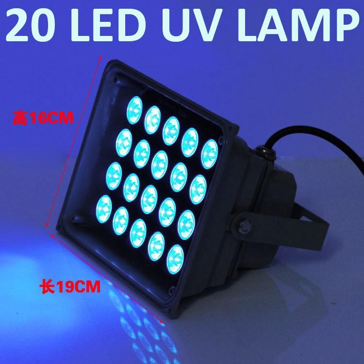 20led lámpara ultravioleta uv lámpara lámparas uv pegamento de