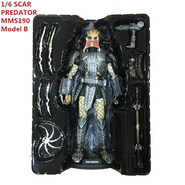 AVP Doll SCAR PREDATOR MMS190 Action Figures Model C 1/6 Scale Movable M18 Pre-Painted Alien vs. Predator Toys 32cm