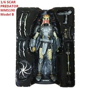 Image 2 - Poupée AVP cicatrice prédateur MMS190 figurines modèle C 1/6 échelle mobile M18 pré peinte Alien vs prédateur jouets 32cm