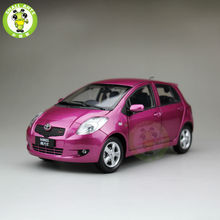 1 18 Toyota Yaris 2008 Diecast Car Model Purple Color