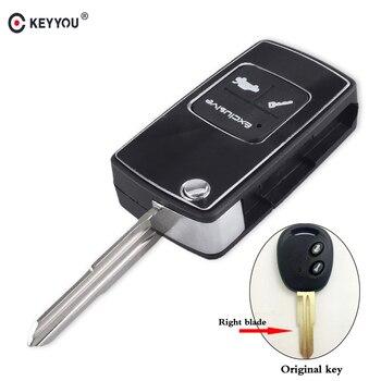 Chiave Telecomando per Chevrolet Lova Epica Spark Avoe 2 Tasti Modified Flip Key Shell Right Groove