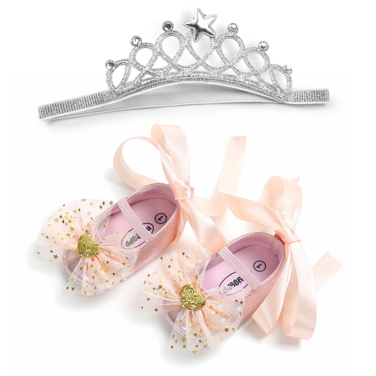 Princess Baby Shoes and Headband Set
