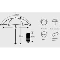 Цветочный принт-ручка Для женщин прозрачный зонтик Мода Для детей зонтик от солнца дамы автоматический ясно дождь зонтик YJ003