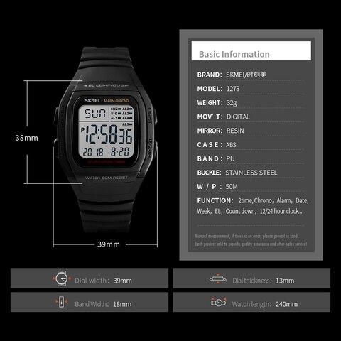 SKMEI Fashion Men Watches Sports Digital Watch Waterproof Alarm Man Wrist Electronic Clock Men Relogio Masculino Karachi