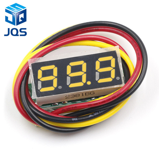 DC 0V-100V 0.28 inch LED Digital Voltmeter Voltage Meter Volt Detector Monitor Tester Panel Car 12V 24V Red Green Blue Yellow 2