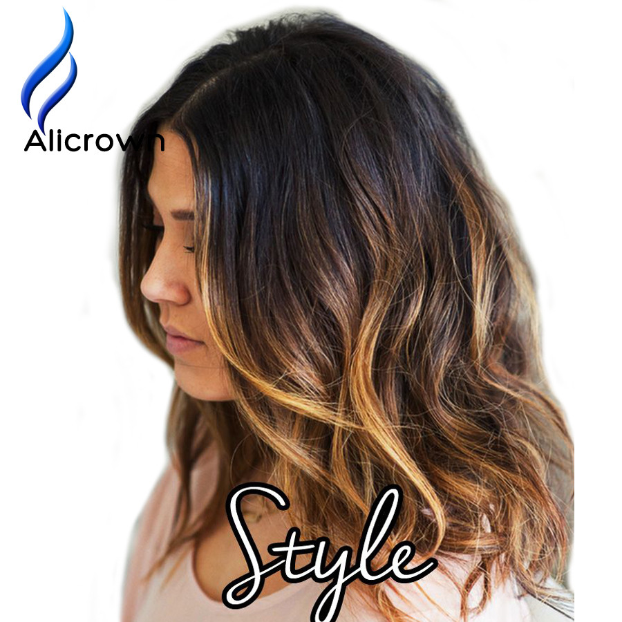 Short Blonde Ombre Wig 55