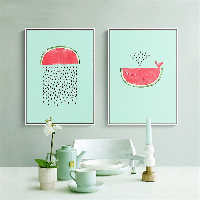 Fruit Watermelon Painting Room Quality Home Decor Art Living Kitchen Posters Canvas No