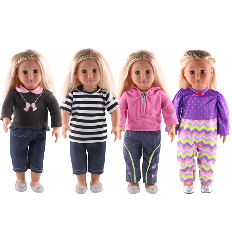 Luckdoll All kinds of suits, jumpsuits suit the 18-inch American girl doll, childrens best holiday gift.
