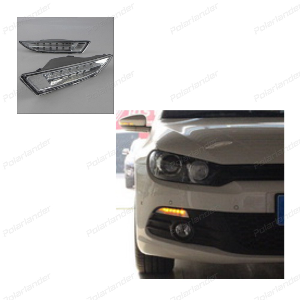 Automobile Accessories.Car Styling Daytime Running Lights for V/W R S/cirocco LED DRL 2009-2013 LED Fog Light Front Lamp