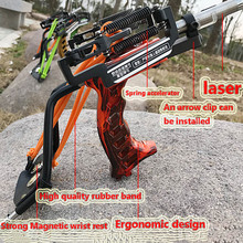 цена на Powerful catapult fishing slingshot arrow laser sling powerful fishing catapult super spring slingshot hunting 2019