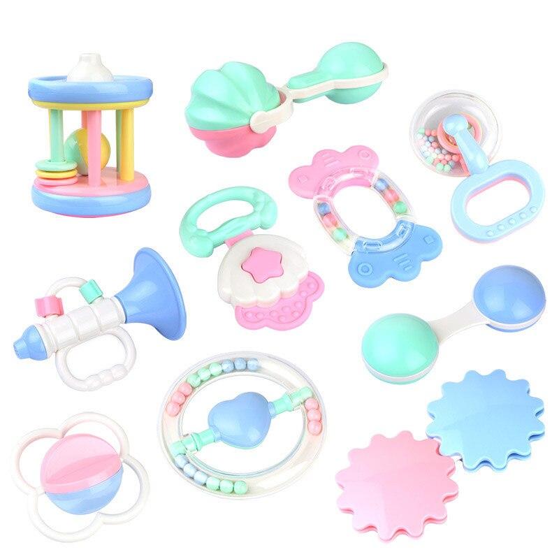 10 Style bébé bébé mignon hochets jouets de dentition saisir Spin secouant cloche hochet cadeau jouet pour nouveau-né en bas âge