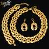 Fashion Dubai Jewelry 2017 Women Bridal Wedding Jewelry Sets High Quality Pure Gold Color Necklace Earrings