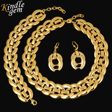 Fashion Dubai Jewelry 2017 Women Bridal Wedding Jewelry Sets High Quality Pure Gold Color Necklace Earrings Bracelet For Party