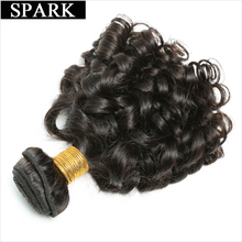 "Spark Brazilian Bouncy Curly Hair Bundles Human Hair Weave 8""-26 inches 1/3/4PCS Remy Hair Extensions Natural Color Can Be Dyed"