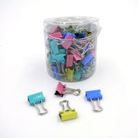60pcs Lot 15mm Colorful Metal Binder Clips Paper Clip Office Stationery Binding Supplies