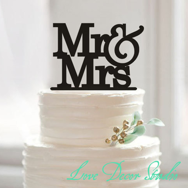 Mr & Mrs cake topper, Wedding cake topper, wooden cake topper ...