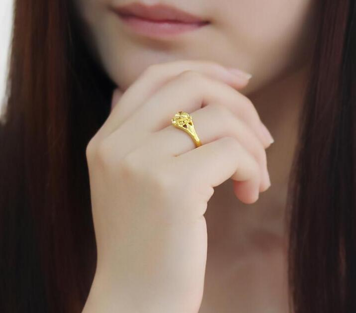 Чистое 24К желтое золото изменяемое кольцо новое дизайнерское кольцо в форме сердца 3,5g Горячая Распродажа - 5