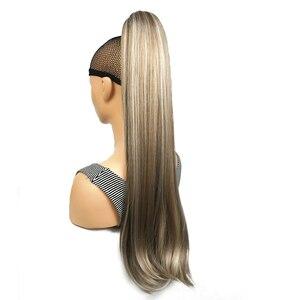 Image 5 - StrongBeauty Klaue Clip Pferdeschwanz Lange gerade Haarteil Synthetische Haar Verlängerung