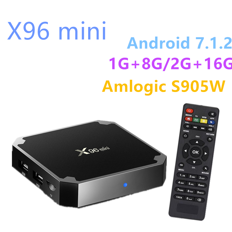 X96mini Android 7.1 TV BOX 1G+8G/2G+16G Amlogic S905W Quad Core Support 4K Media Player 2.4G Wifi Android TV Box Smart TV Box newest h8 android 6 0 tv box amlogic s905x quad core cortex a53 2g 8g smart android tv box
