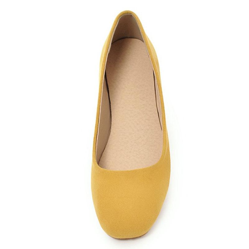 Femmes Bout 43 Bonbon Carré Appartements Filles Couleur Beige yellow Chaussures Nouveau Profonds blue 34 Automne Casual Peu Fanyuan black Taille La pink Sucré Sur Plus Printemps Glissement w1f0Xqxt