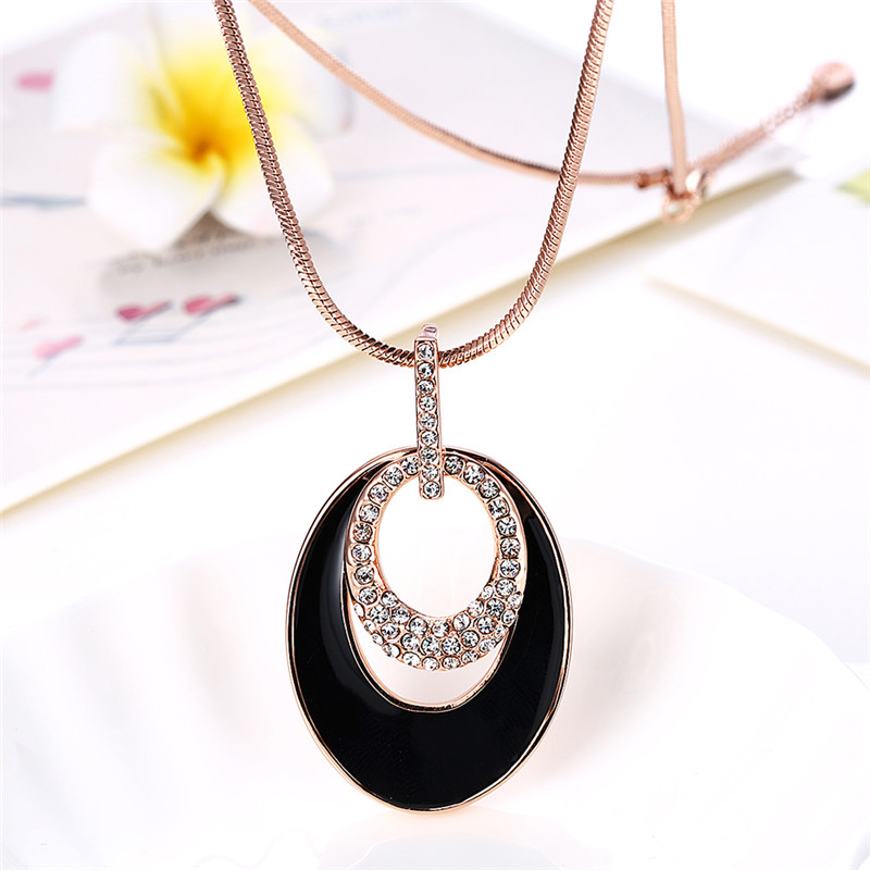 KJ-RGPM010, KimJ round shape popular sweater long necklaces, luxury design with Czech crystal best as gift or party or Women