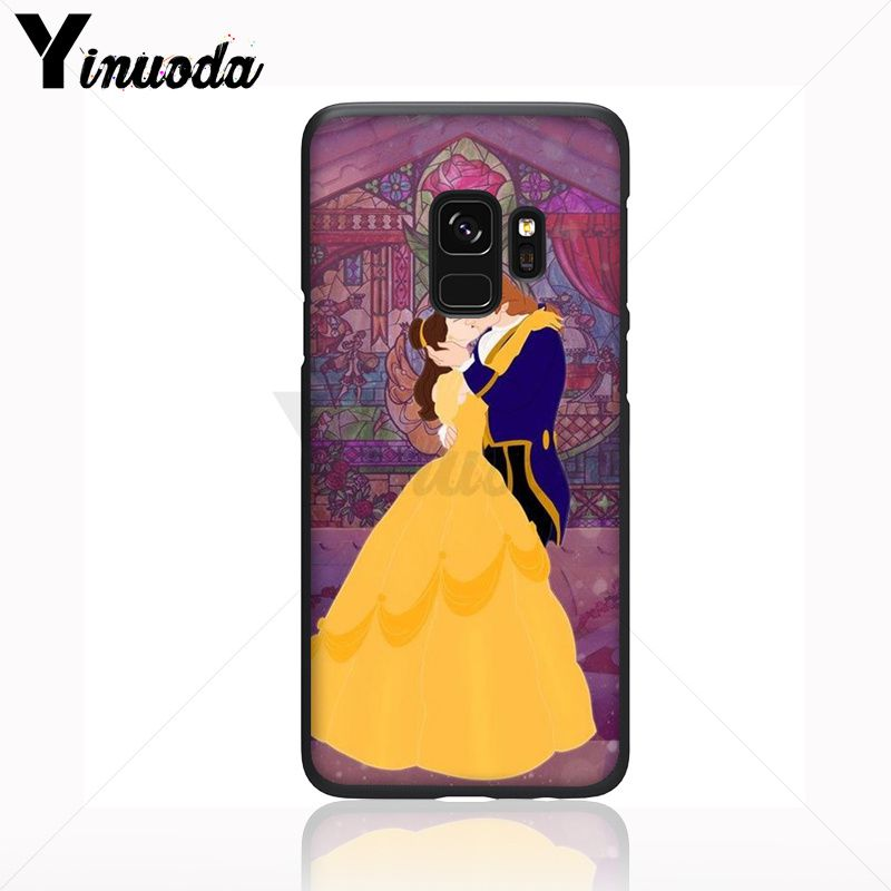 Yinuoda cartoon Beauty Beast Rose Princess Art Print Soft Phone Case For Samsung Galaxy s9 s8 plus note 8 note9 s7 Mobile Cases in Half wrapped Cases from Cellphones Telecommunications