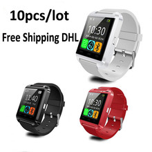 Wholesale 10pcs Lot Smart Watch U8 Clock Sync Notifier Support Bluetooth Connectivity Iphone Android Phone Smartwatch
