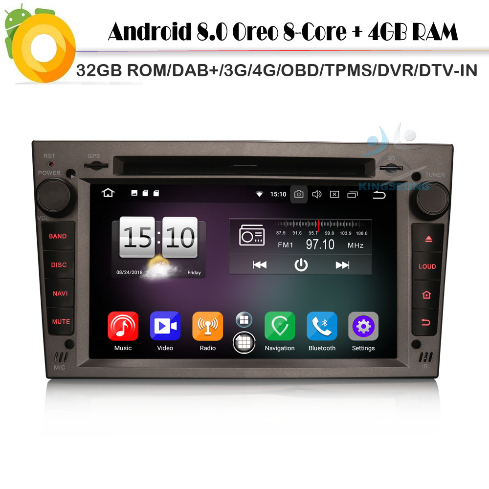 CD плеер автомобиля Android 8,0 Авторадио Восьмиядерный Nav DAB + для Opel Antara Meriva Tigra TwinTop Wi Fi 4 г gps радио DVR OBD2 Bluetooth
