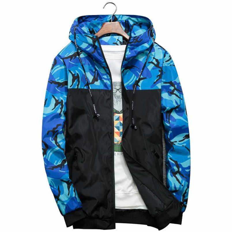 Весенне-осенняя мужская повседневная камуфляжное худи куртка мужская водонепроницаемая одежда Мужская ветровка пальто мужская верхняя одежда