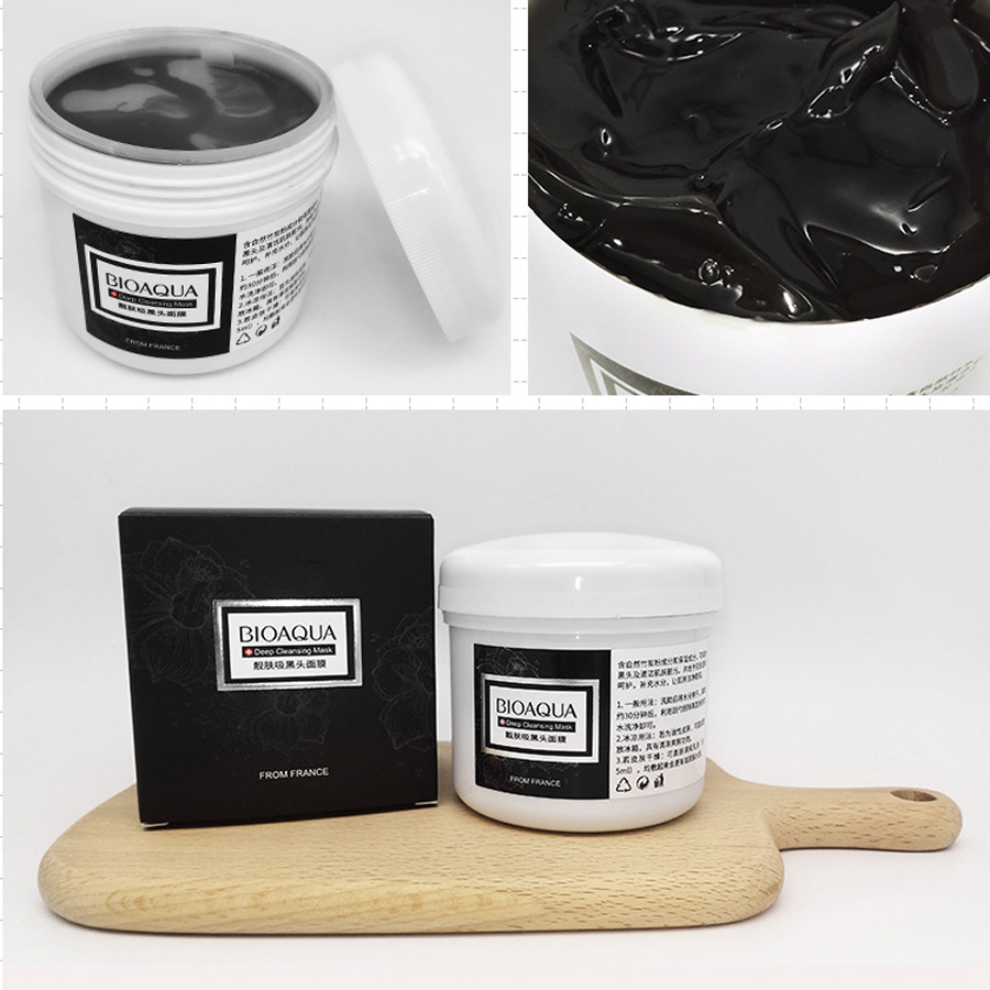 Blackhead Cleansing Remover Mask Bamboo Charcoal Blackhead: BIOAQUA Black Mask Bamboo Charcoal Blackhead Remover Ance