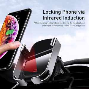 Image 2 - Baseus Wireless Car Charger For iPhone 11 Xs Max Xr 8 Plus 10W Fast Wireless Charger Holder Car Phone Charger For Huawei P30 Pro