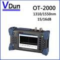 1310/1550nm 15/16dB Digital Single-Mode de Fibra Óptica SM OTDR OT2000 Testador Ferramentas De Teste Óptico