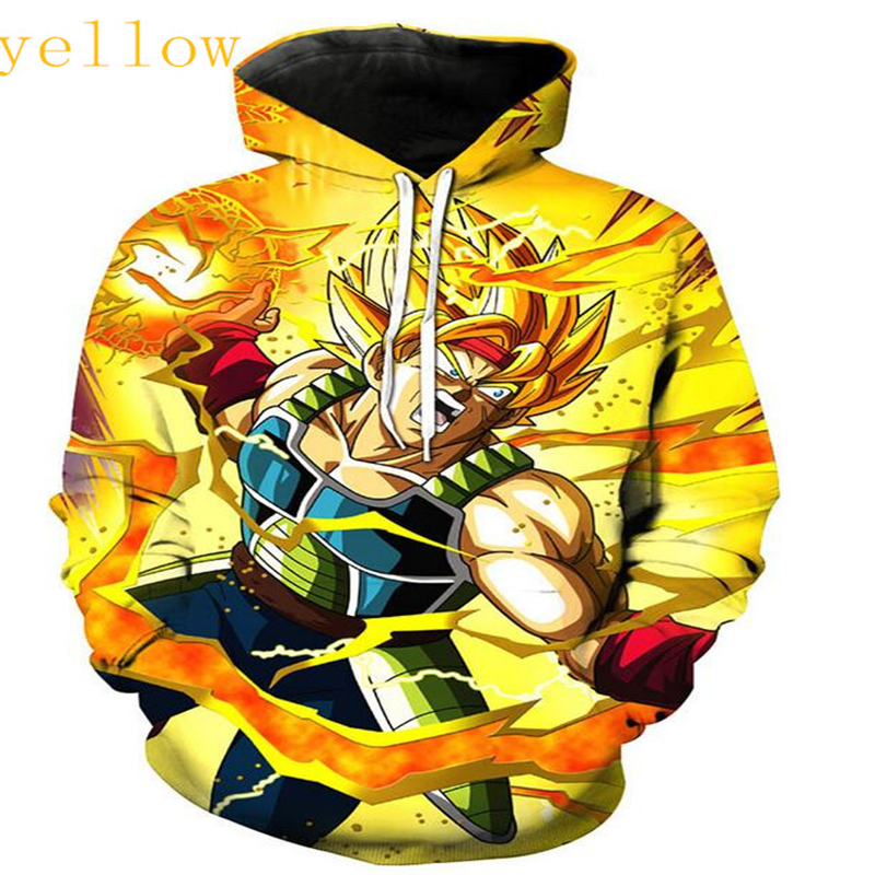 Men's Clothing Trend Mark Lizhiyang New Fashion Couples Unisex Yellow Colour Dragon Ball Z 3d Printed Hoody Hoodies Sweatshirts Jacket Pullover Tops Cleaning The Oral Cavity.