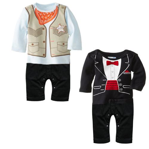 2015 recién nacido bebé esmoquin mameluco del bebés lindos de la parte formal ropa para recién nacidos de manga larga ropa para recién nacido