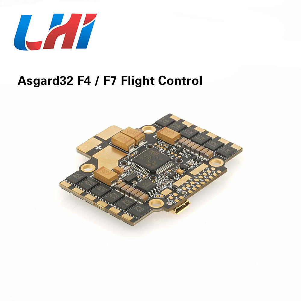 Airbot Asgard32 F4 / F7 ESC for Quadcopter BLHeli_32 4x35A Supports 3-4S Lipo direct plugin utilize 6x UARTs for FPV RC Drones asgard32 f7 betaflight flight controller stm32 f7 mcu mpu6000 stm32 controls osd baro bmp280 35a blheli32 esc onboard 6 uarts