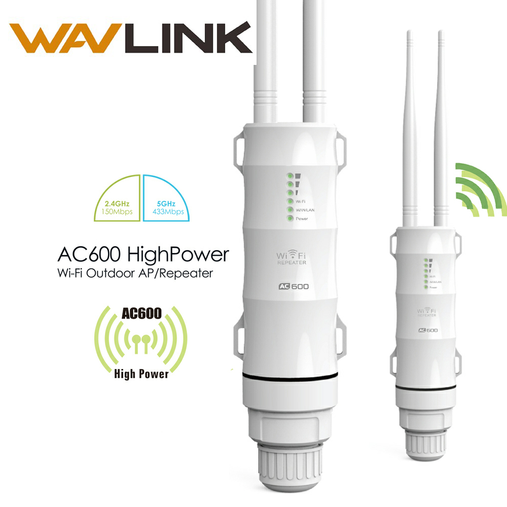 Wavlink AC600 High Power Outdoor Wifi Repeater 2.4G 150Mbps 30dBm+5GHz 433Mbps 27dBm Wireless Wifi Router with AP WISP Extender