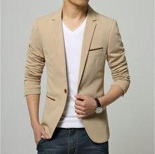 2016 neue Herbst Herren Cansual Slim Fit Blazer und Jacken Männlichen Mode Designs Koreanische Anzüge Schwarz Navy Sky Blau Beige