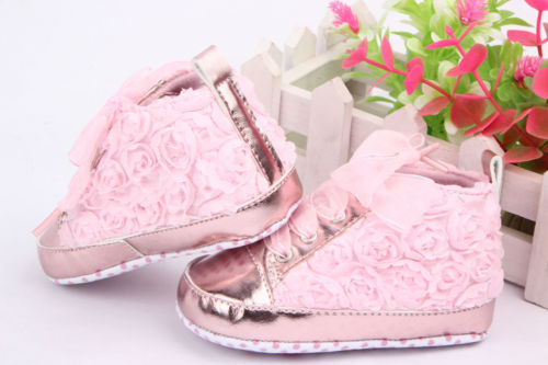 d33d9db59 Rose Flower Baby Girls Shoes Soft Cozy Shoes Toddler Infant ...