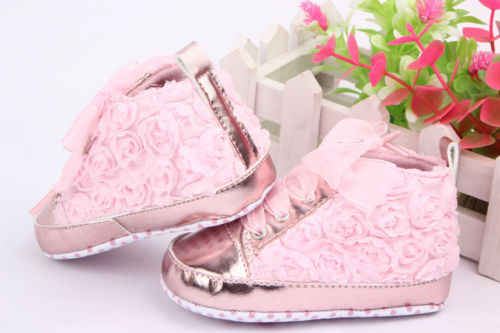 Rose Flower Baby Girls Shoes Soft Cozy