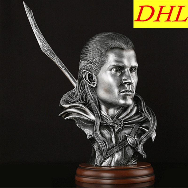 Lord of the Rings Legolas Bust Elf Prince Hobbit Statue Movie Resin Crafts Home Decorations L2253 shazdeh ehtejab the prince