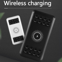 Cep telefonları ve Telekomünikasyon Ürünleri'ten Taşınabil. Güç Kay.'de Güç Banka 20000mAh QI Kablosuz Şarj Güç Bankası 3 USB harici pil iphone şarj cihazı 6 7 8 Samsung S9 S8